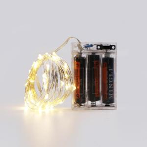 5M 50led 3AA battery box operated led string lights